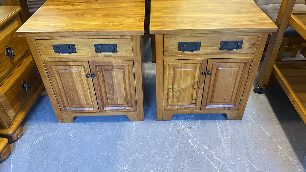 Solid recycled rimu bedsides cabinets!