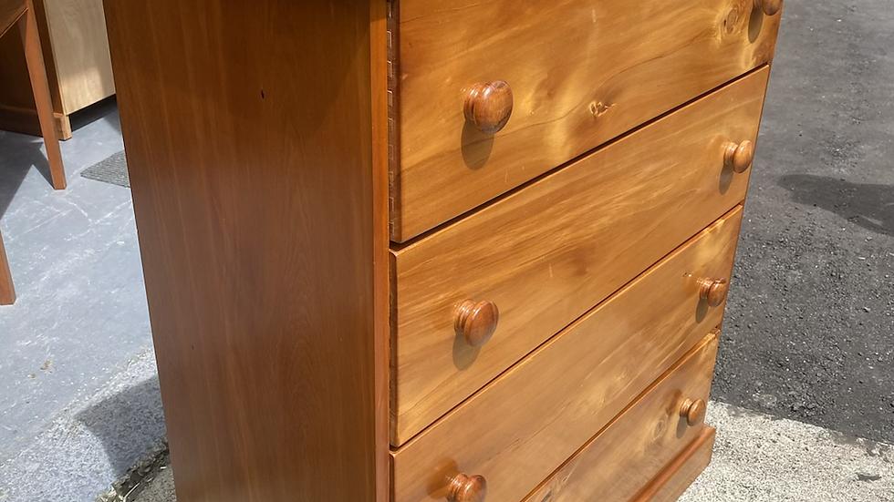 Solid rimu 4 drawer tall boy!