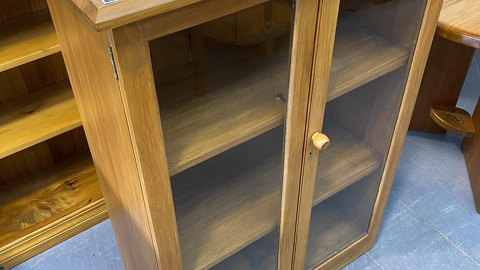Solid rimu display cabinet