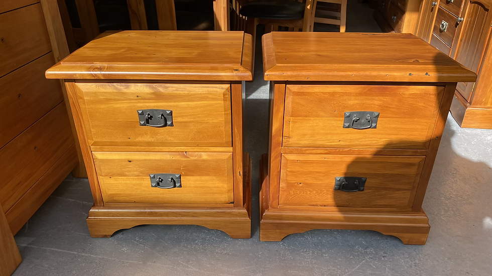 Woodpecker solid recycled rimu 2 drawer bedsides!