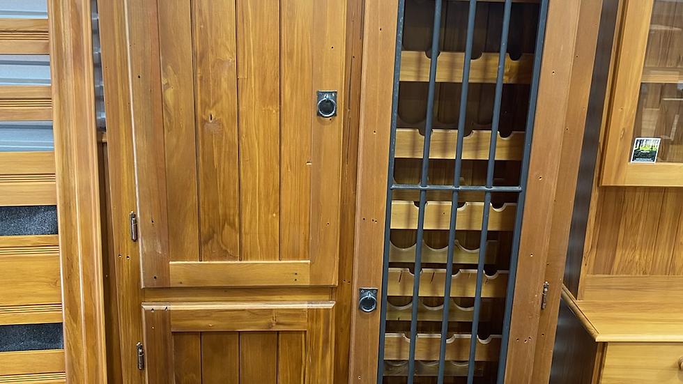 Solid recycled rimu wine cabinet!