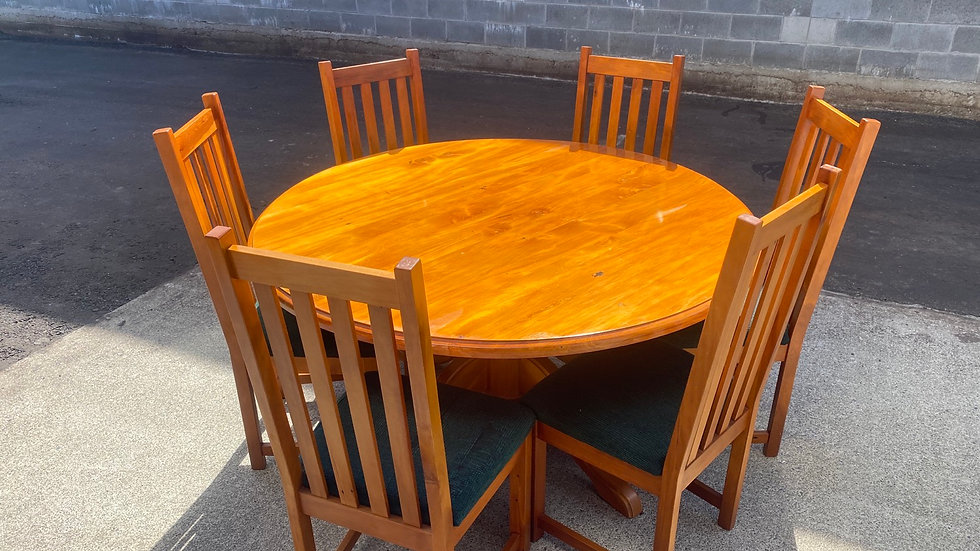 Woodpecker 7pcs round dining suite!