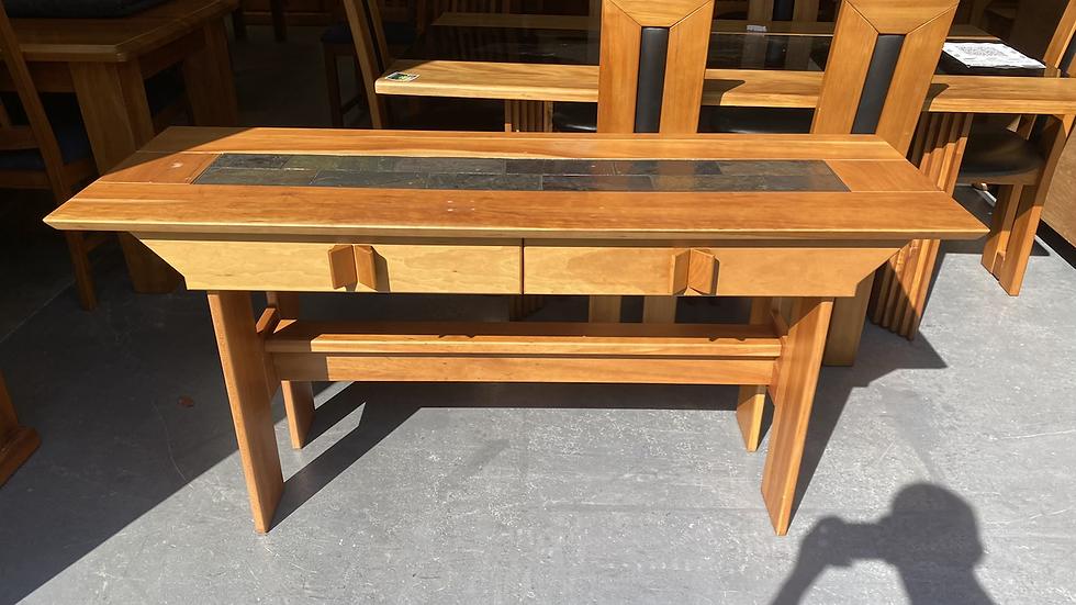 Kauri Hall Table with Tiled Top