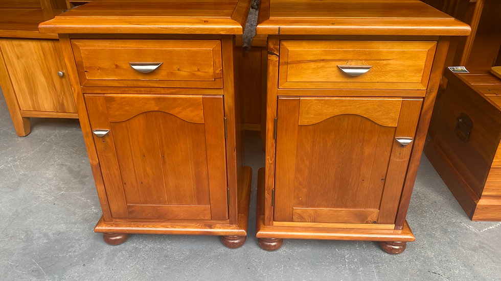Woodpecker solid recycled rimu bedside cabinets!