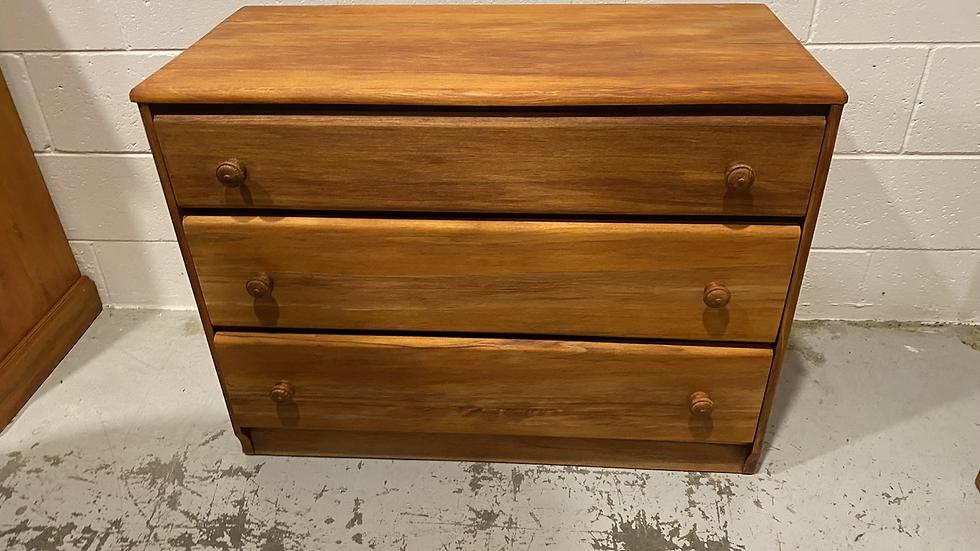 Solid rimu 3 drawer lowboy!