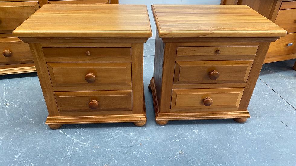 Sorrensons solid rimu bedside drawers
