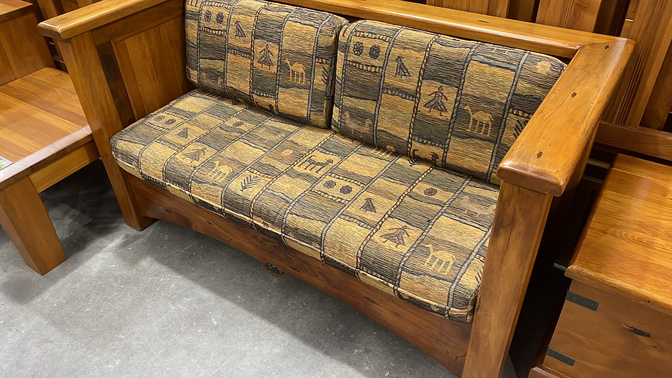 CHURCHCRAFT Solid recycled rimu 2 seater couch!