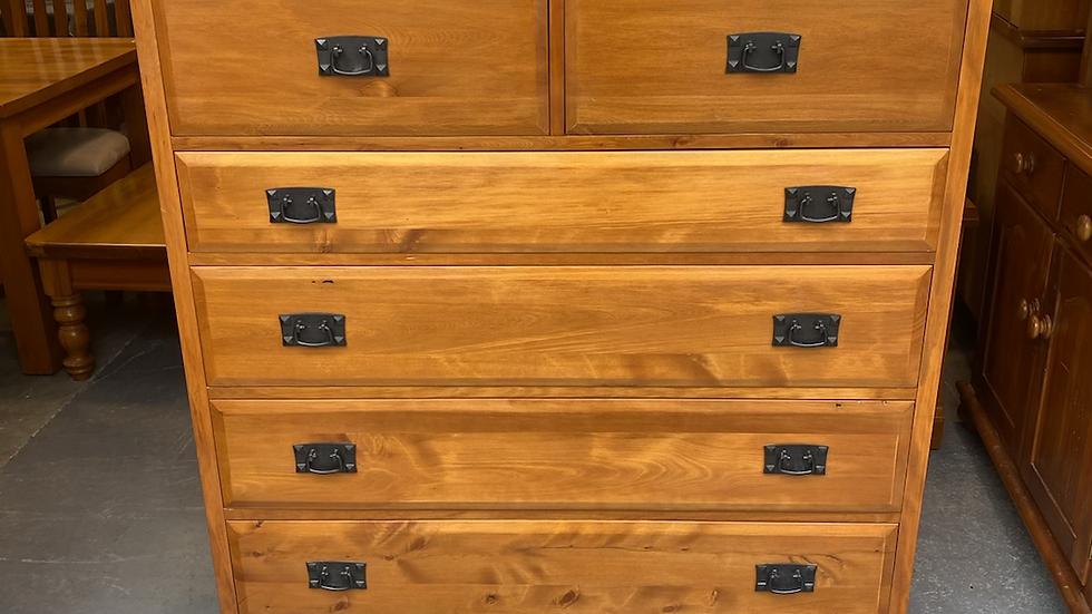 Woodpecker solid recycled rimu 6 drawer tallboy!