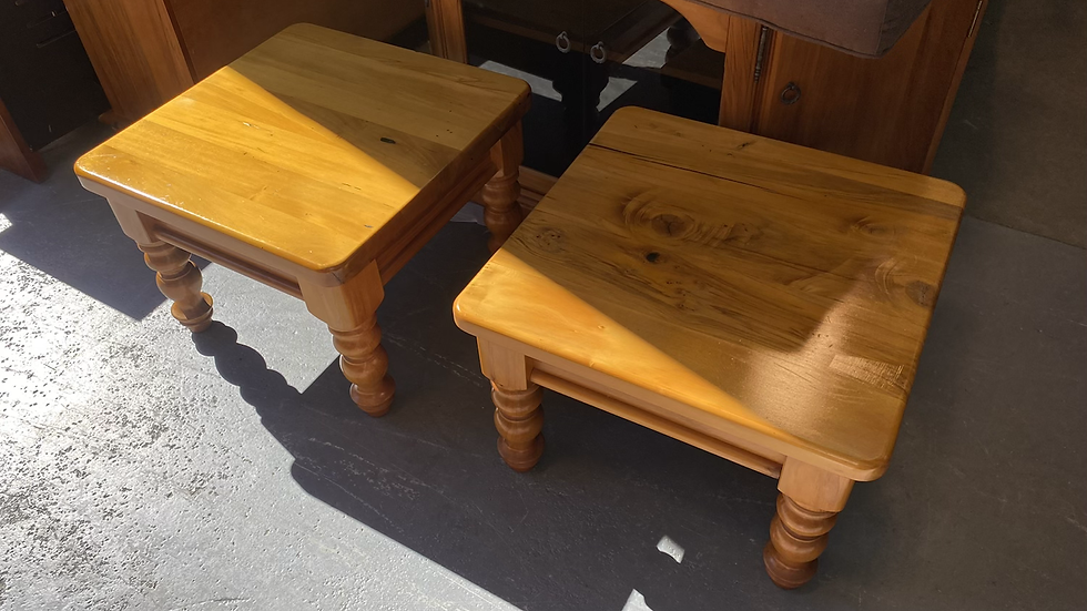 Solid rimu side table x 2