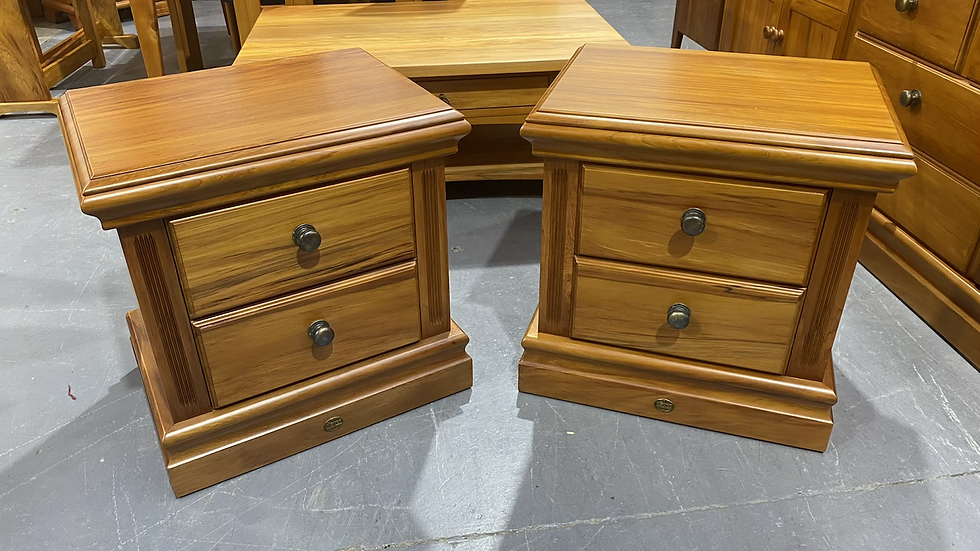 Blayco solid rimu 2 drawer bedsides!