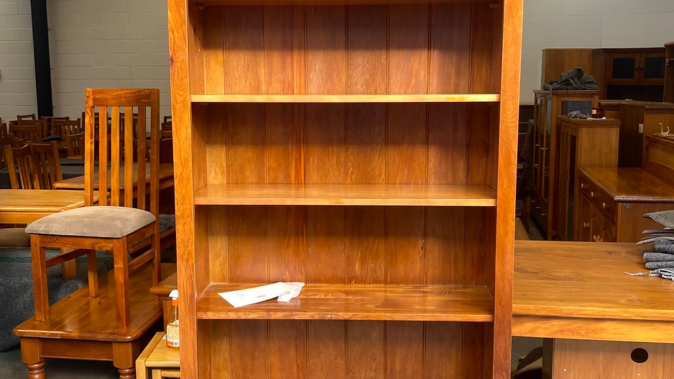 Woodpecker solid recycled rimu bookcase 2m tall!