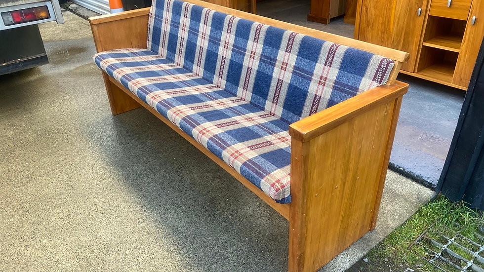 Solid rimu church pew!
