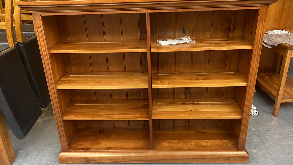 Woodpecker solid recycled rimu 2 bay bookcase!