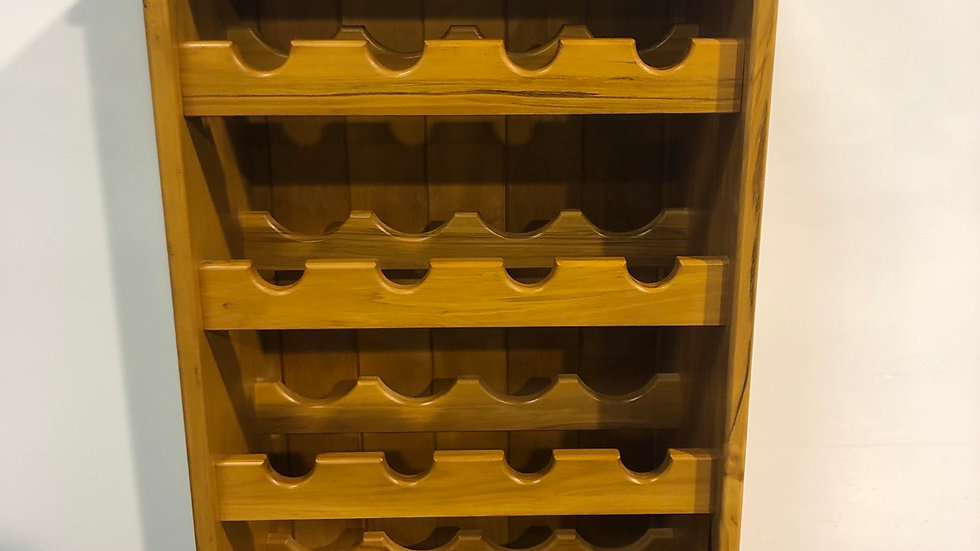 Solid rimu wine rack!