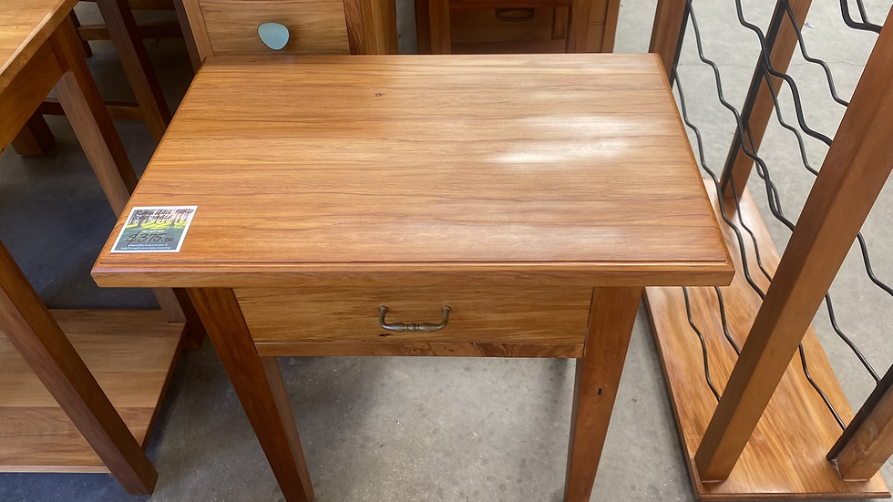 Rimu side table with single drawer