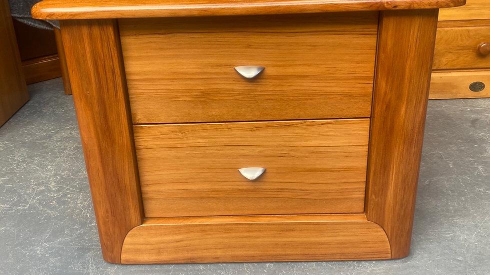 Ezirest solid rimu 2 drawer bedside cabinet!