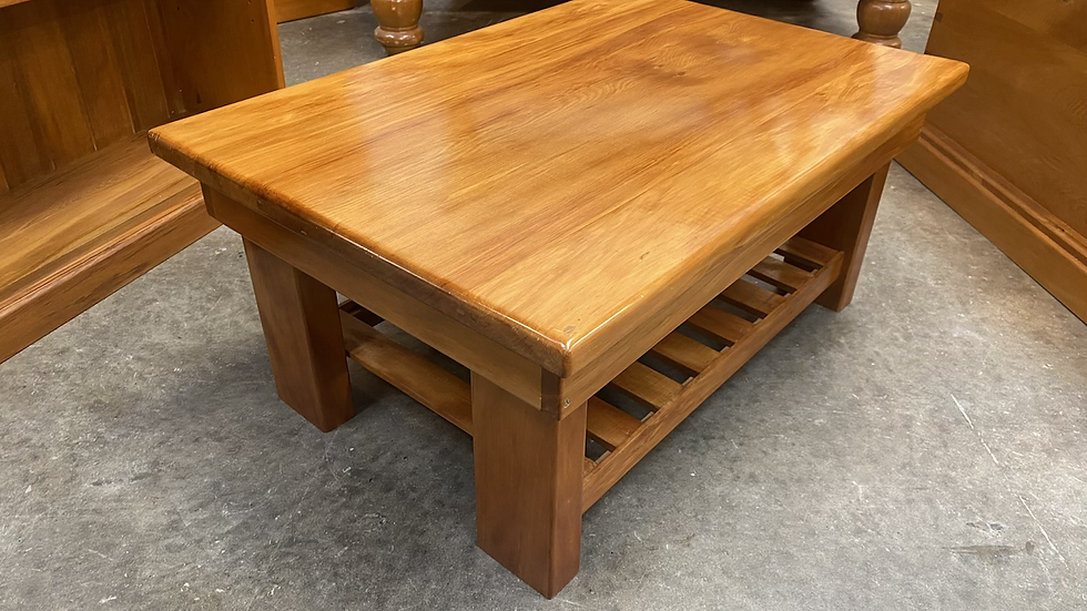 Solid rimu coffee table with magazine rack!