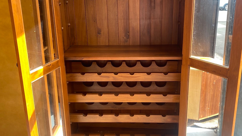 Woodpecker solid recycled rimu wine rack!