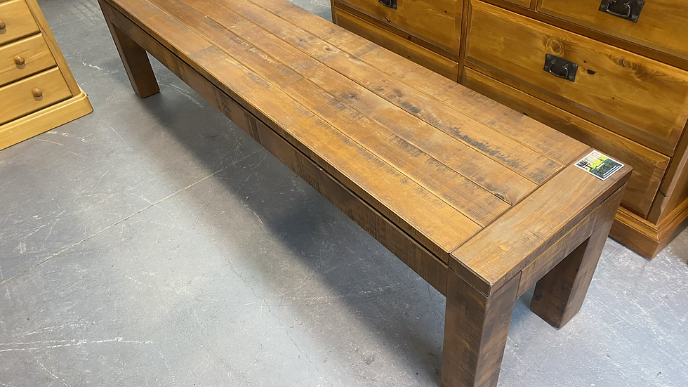 NEW woodpecker solid recycled rimu bench seat!