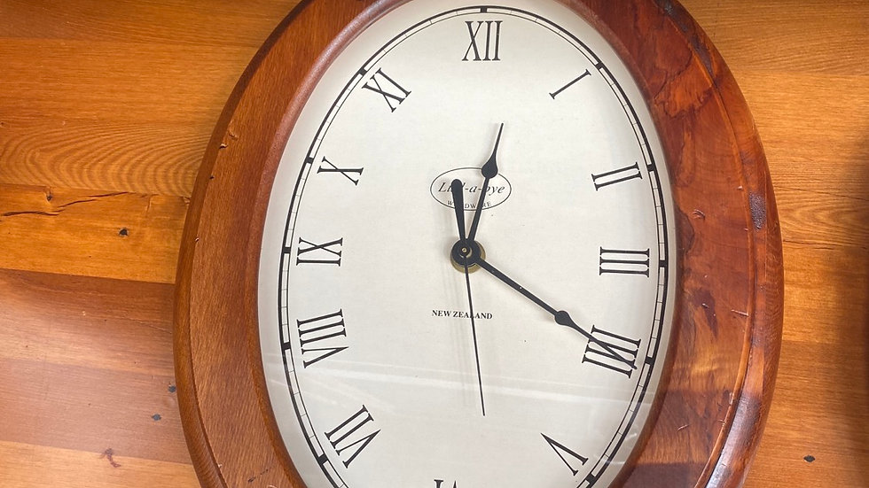 Lull-a-bye solid recycled rimu clock!