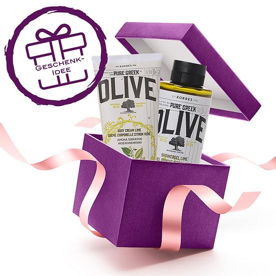 Geschenkset - KORRES Olive & Lime Duschgel & Körpermilch