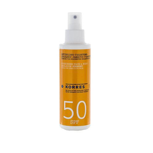 KORRES - Yoghurt Sonnenemulsion für Gesicht und Körper SPF 50