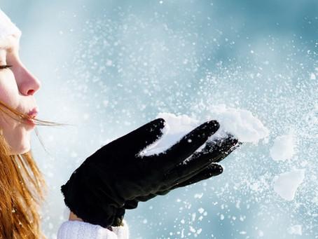 Winterschutzmantel für Hände und Lippen.