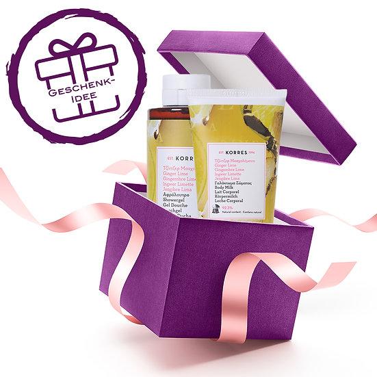 Geschenkset - KORRES Ginger Lime Duschgel & Körpermilch