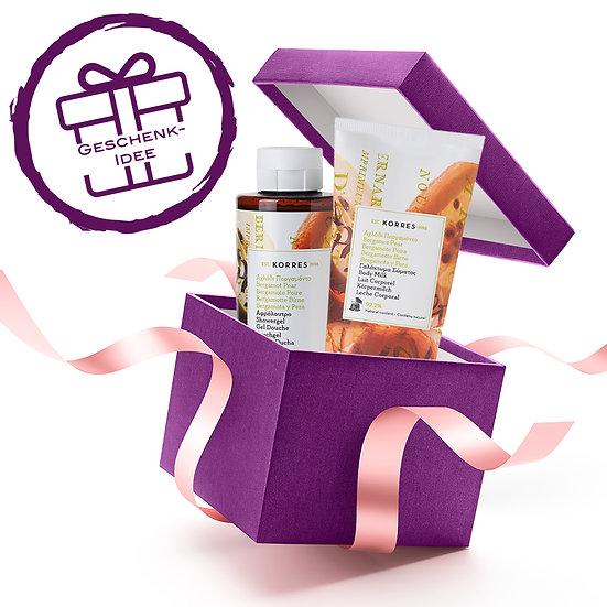 Geschenkset - KORRES Bergamot Pear Duschgel & Körpermilch