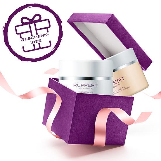 Geschenkset - Tropical Coffee Peeling & Powder Cream Bath