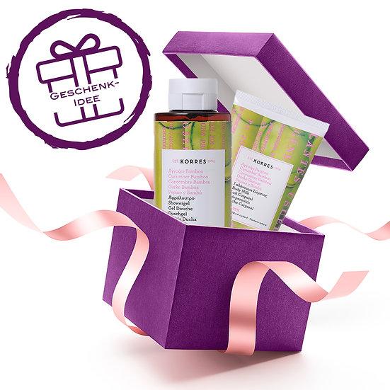 Geschenkset - KORRES Cucumber Bamboo Duschgel & Körpermilch