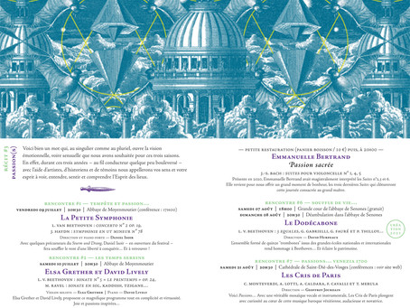 Festival des Abbayes en Lorraine 2021 - du 9/07 au 10/09