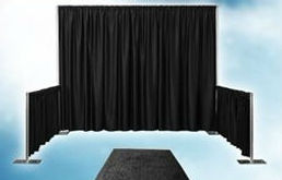 Pipe and drape for exhibition hire