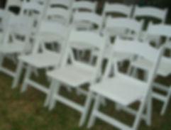 Americana white folding chair hire