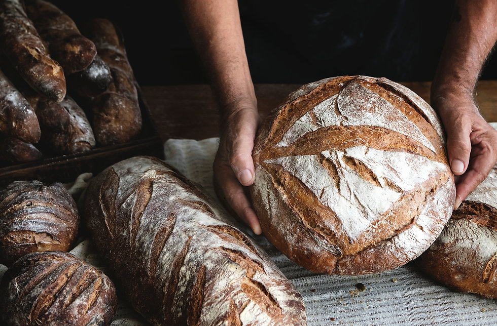 Bread loaves food photography recipe ide