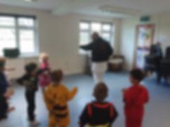 Reception Class PE lesson