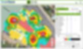 Ocean Digital heat map example