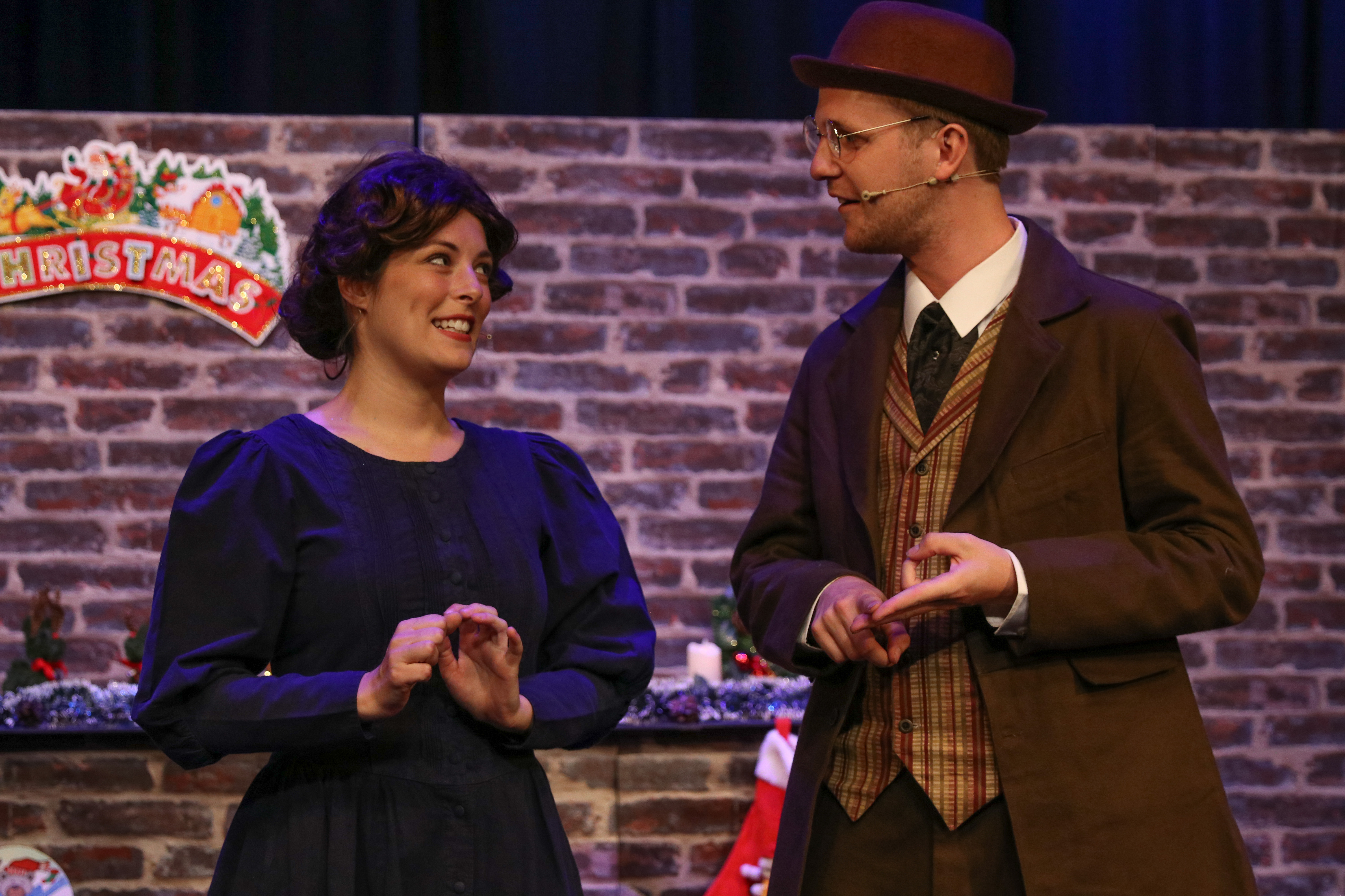 Mrs Cratchit & Bob Cratchit