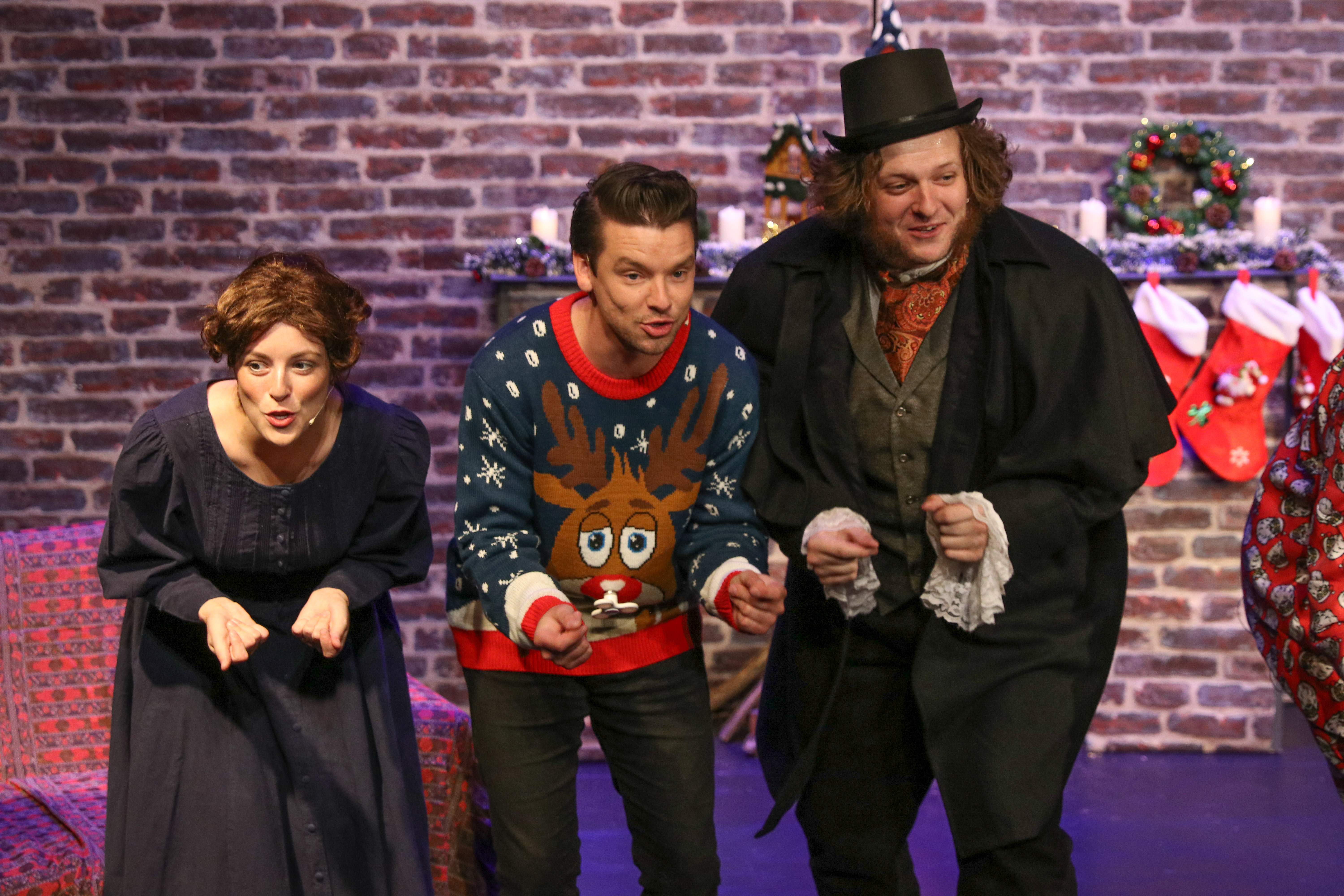 Mrs Cratchit, Fred and Scrooge