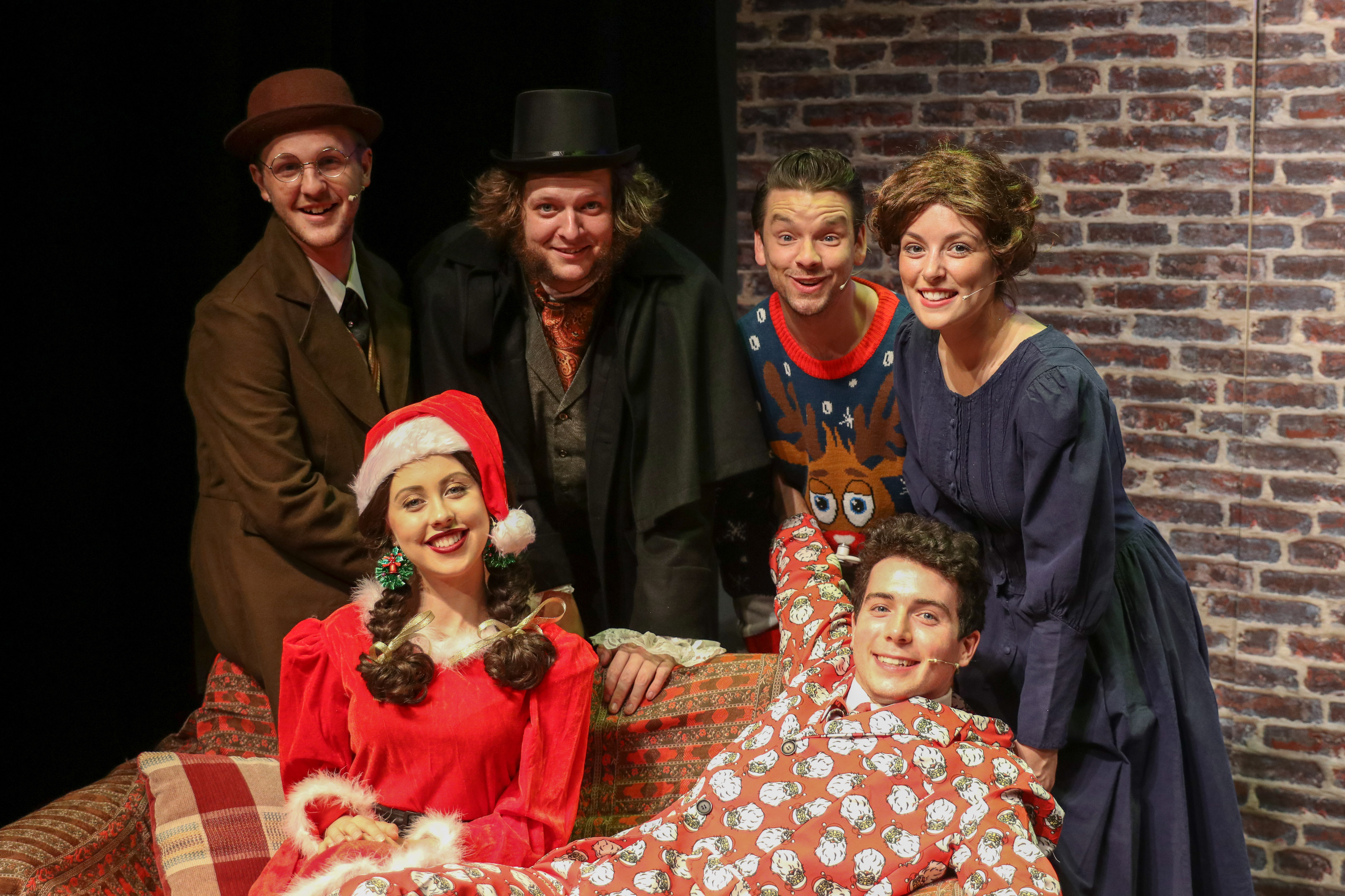 The cast of A Christmas Carol