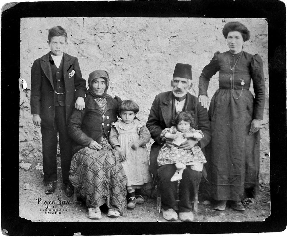 Armenian family; Chemeshgezek, Kharpert Province, Ottoman Empire, c. 1905;