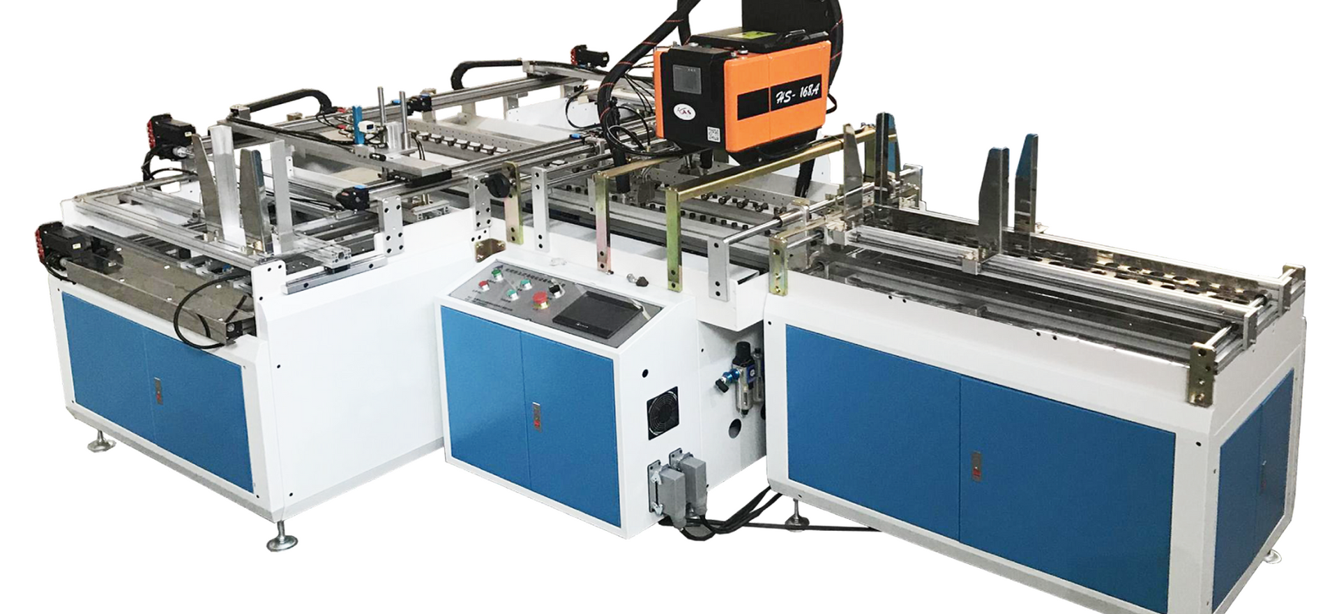 AUTOMATIC BOX ASSEMBLY MACHINE FOR COLLAPSABLE BOXES ZI-FB00