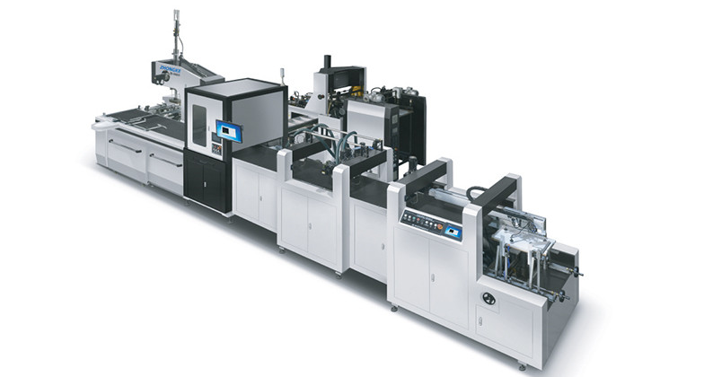 AUTOMATIC PARTIAL GLUING LIGHT WEIGHT BOX MAKING MACHINE ZK 660GN