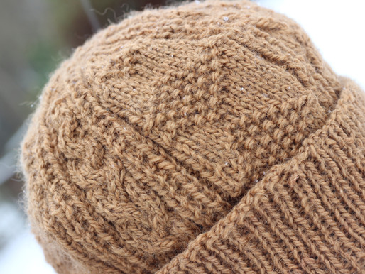Fisherman's Gansey Hat - Knitting project