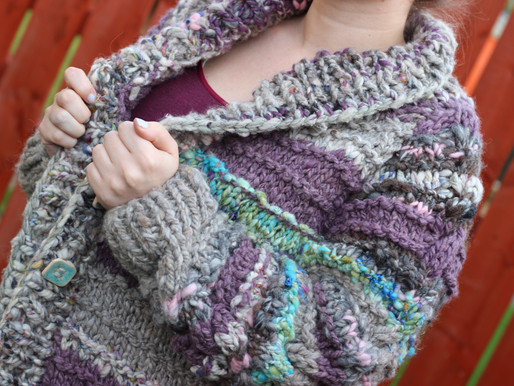 Project; Snowcap Cable Cardigan - the handspun version!