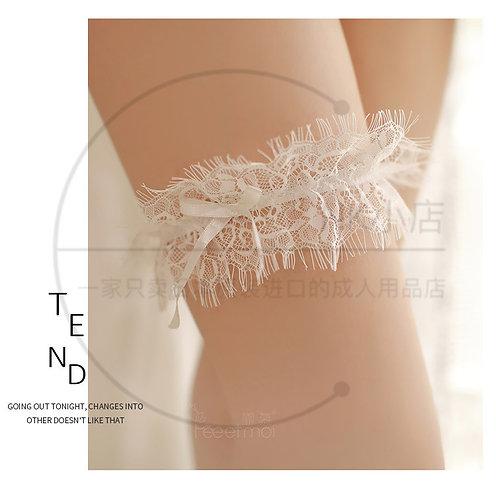 W027 女式激情制服诱惑套装配饰配件腿环颈环(白色)