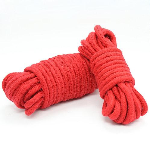 SM16 红色十米情趣棉绳子捆绑绳 女奴调教角色扮演囚禁锢