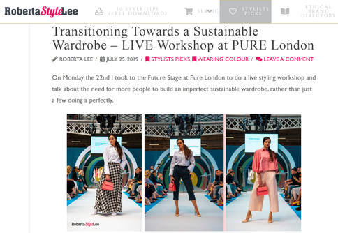 Sustainable Live Styling Pure London