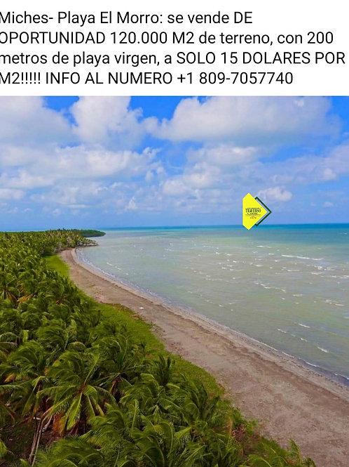 Terreno Rep Dom Miches Playa el Morro