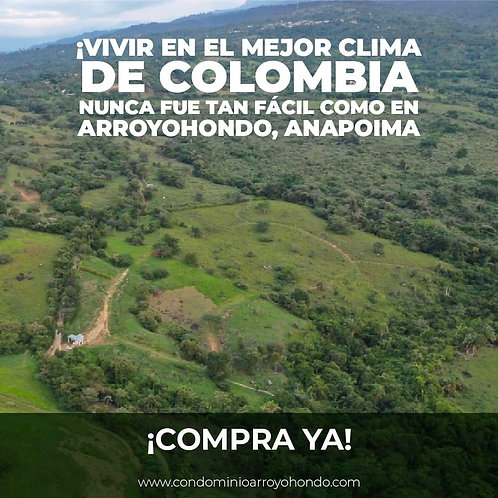 Terreno Colombia Arroyondo Anapoima